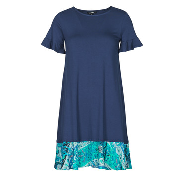 Clothing Women Short Dresses Desigual KALI Marine