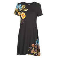 Clothing Women Short Dresses Desigual LAS VEGAS Black