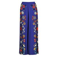 Clothing Women Wide leg / Harem trousers Desigual CHIPRE Blue