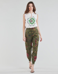 Clothing Women Wide leg / Harem trousers Desigual BALIBAY Kaki