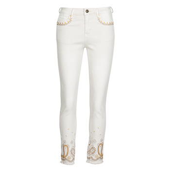 Clothing Women Slim jeans Desigual PAISLEY White