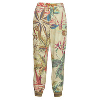 Clothing Women Wide leg / Harem trousers Desigual TOUCHE Beige