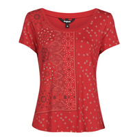 Clothing Women Short-sleeved t-shirts Desigual ESTAMBUL Red