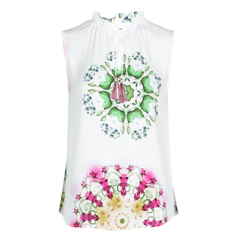 Clothing Women Tops / Sleeveless T-shirts Desigual ROSEN White