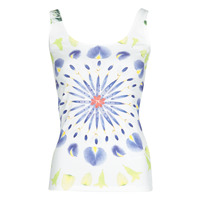 Clothing Women Tops / Sleeveless T-shirts Desigual PETALS Multicolour