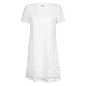 Clothing Women Short Dresses Desigual NILO White