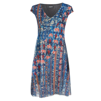 Clothing Women Short Dresses Desigual MERRY Blue