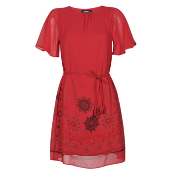 Clothing Women Short Dresses Desigual TAMPA Red