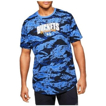 Clothing Men Short-sleeved t-shirts Under Armour Baseline Verbiage Tee Blue, Navy blue