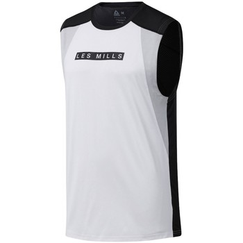 Clothing Men Tops / Sleeveless T-shirts Reebok Sport Les Mills Smartvent White,Black