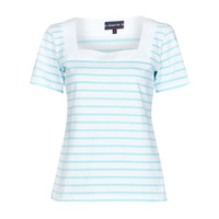 Clothing Women Short-sleeved t-shirts Armor Lux MARINIERE ENCOLURE CARREE White