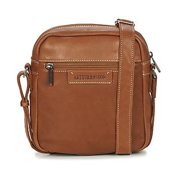 Bags Men Pouches / Clutches Arthur & Aston 2028-10 Cognac