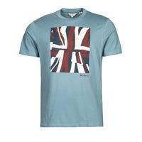 Clothing Men Short-sleeved t-shirts Ben Sherman HALF TONE FLEG TEE Blue