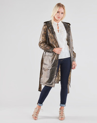 Clothing Women Jackets / Blazers Cream SEVICA RAINCOAT Multicolour