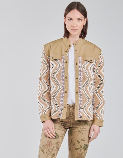 Clothing Women Jackets Cream SOLDE JACKET Beige