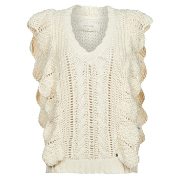 Clothing Women Jumpers Cream ANNOLINA KNIT SLOPOVER White