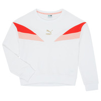 Clothing Girl Sweaters Puma CLASS COLORBLCK CREW White