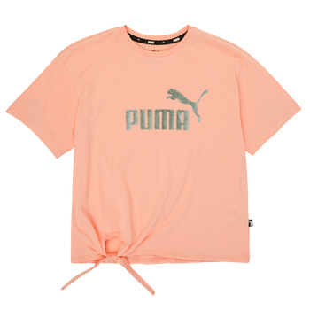 Clothing Girl Short-sleeved t-shirts Puma ESS SILOUHETTE TEE Pink