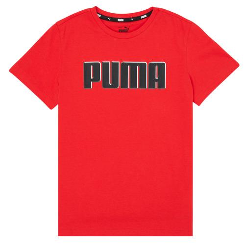Clothing Boy Short-sleeved t-shirts Puma ALPHA GRAF TEE Red