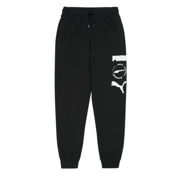 Clothing Boy Tracksuit bottoms Puma ALPHA SWEAT PANT Black
