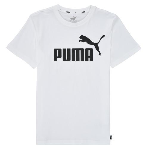 Clothing Boy Short-sleeved t-shirts Puma ESSENTIAL LOGO TEE White