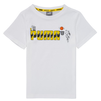 Clothing Boy Short-sleeved t-shirts Puma SNOOPY PEANUTS GRAF TEE Black