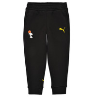 Clothing Boy Tracksuit bottoms Puma SNOOPY PEANUTS SWEAT PANT Black