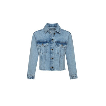 Clothing Girl Denim jackets Pepe jeans NICOLE JACKET Blue