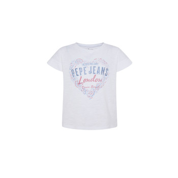 Clothing Girl Short-sleeved t-shirts Pepe jeans PIPER White