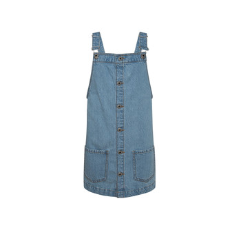 Clothing Girl Short Dresses Pepe jeans CHICAGO PINAFORE Blue