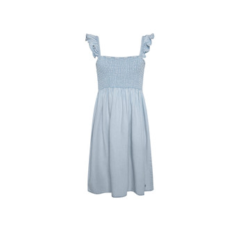 Clothing Girl Short Dresses Pepe jeans MARIA DRESS Blue