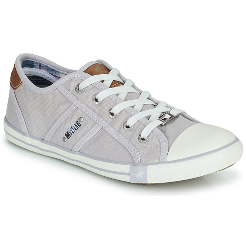 Shoes Women Low top trainers Mustang NATHALIA Purple