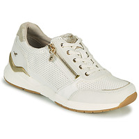 Shoes Women Low top trainers Mustang ANINTA White / Gold