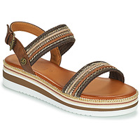 Shoes Women Sandals Mustang NORMA Brown