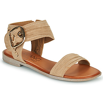 Shoes Women Sandals Mustang SAMIRA Taupe