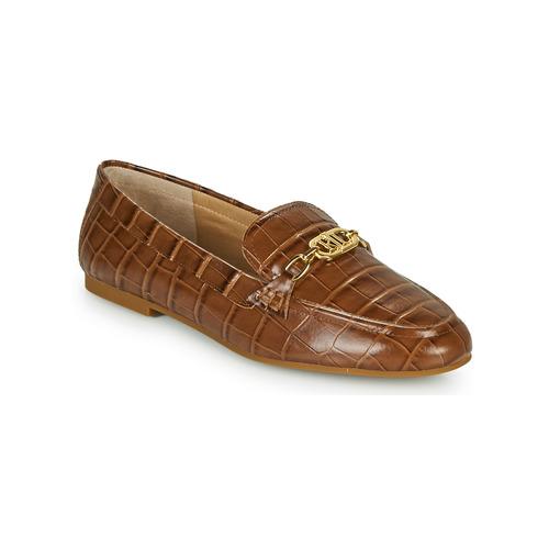 Shoes Women Loafers Lauren Ralph Lauren AVERI Cognac