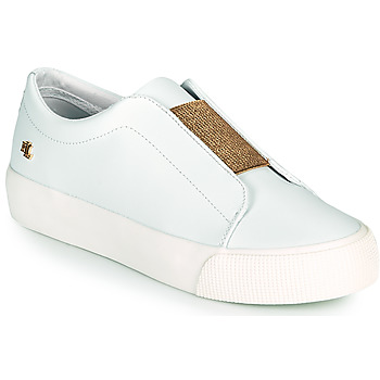 Shoes Women Low top trainers Lauren Ralph Lauren ISLA ACT White / Gold