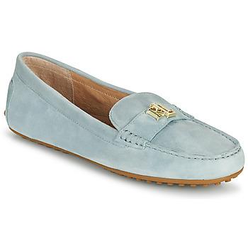 Shoes Women Loafers Lauren Ralph Lauren BARNSBURY FLATS CASUAL Blue / Sky