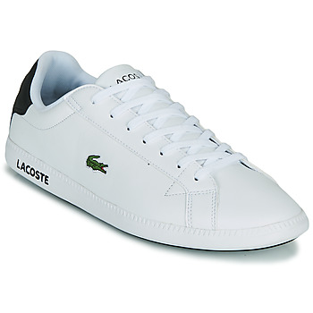 Shoes Men Low top trainers Lacoste GRADUATE 0120 2 SMA White / Black