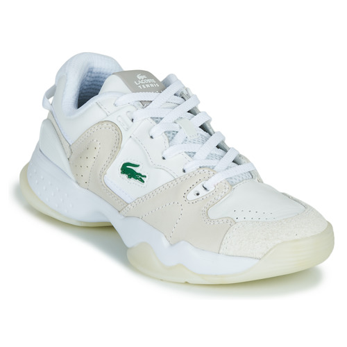 Shoes Women Low top trainers Lacoste T-POINT 0721 1 G SFA White / Beige