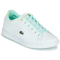 Shoes Children Low top trainers Lacoste CARNABY EVO 1121 1 SUC White / Blue