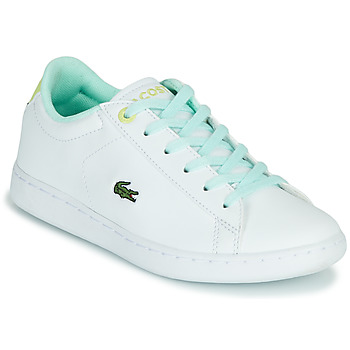 Shoes Children Low top trainers Lacoste CARNABY EVO 1121 1 SUI White / Blue