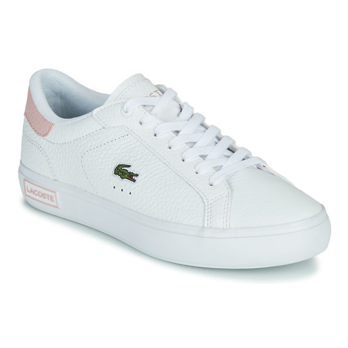Shoes Women Low top trainers Lacoste POWERCOURT 0721 2 SFA White / Pink