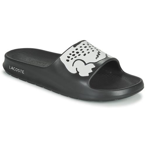 Shoes Men Sliders Lacoste CROCO 2.0 0721 2 CMA Black / White