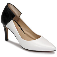Shoes Women Heels Perlato 11764-VENUS-BLANC-JAMAICA-NOIR White / Black