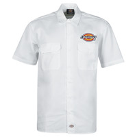 Clothing Men Short-sleeved shirts Dickies CLINTONDALE S/S WORK SHIRT WHITE White