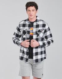 Clothing Men Long-sleeved shirts Dickies NEW SACRAMENTO SHIRT BLACK Black / White