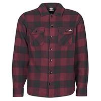 Clothing Men Long-sleeved shirts Dickies NEW SACRAMENTO SHIRT MAROON Bordeaux / Black