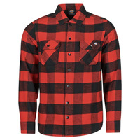Clothing Men Long-sleeved shirts Dickies NEW SACRAMENTO SHIRT RED Red / Black
