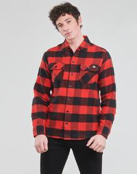 Clothing Men Long-sleeved shirts Dickies NEW SACRAMENTO SHIRT RED Red / Black